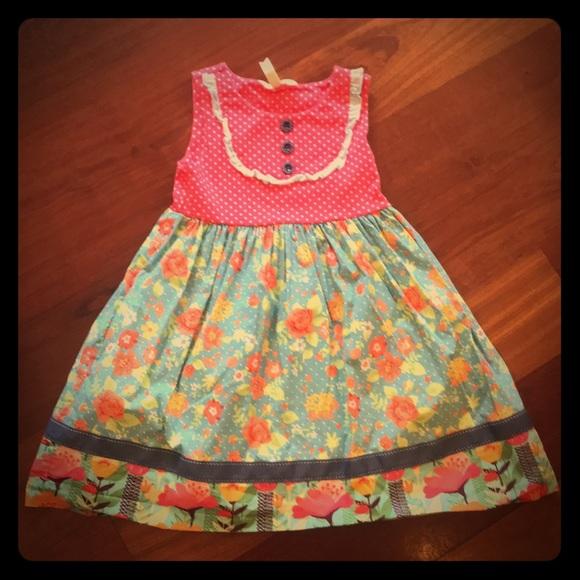 a23c8f11851 Matilda Jane Green Garden Dress. M 5c421640819e9020af74c804